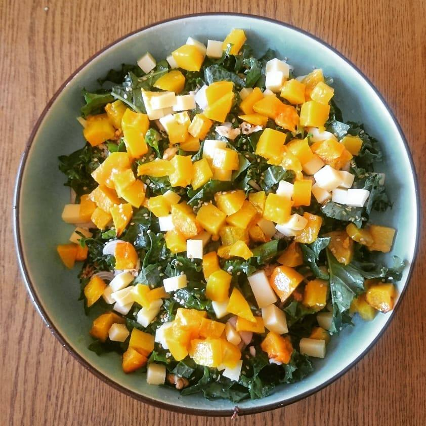Chou kale, butternut et comté